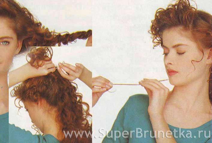 Делаем ниспадающие локоны на длинные волосы