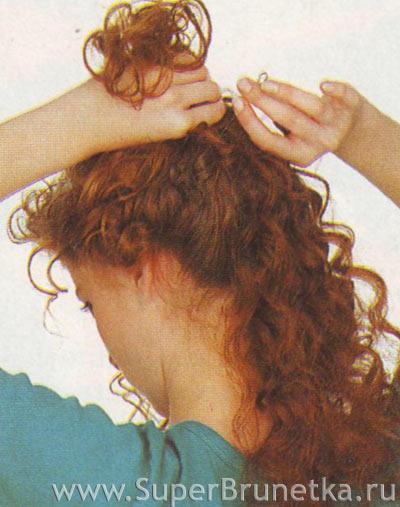 Ниспадающие локоны на длинные волосы