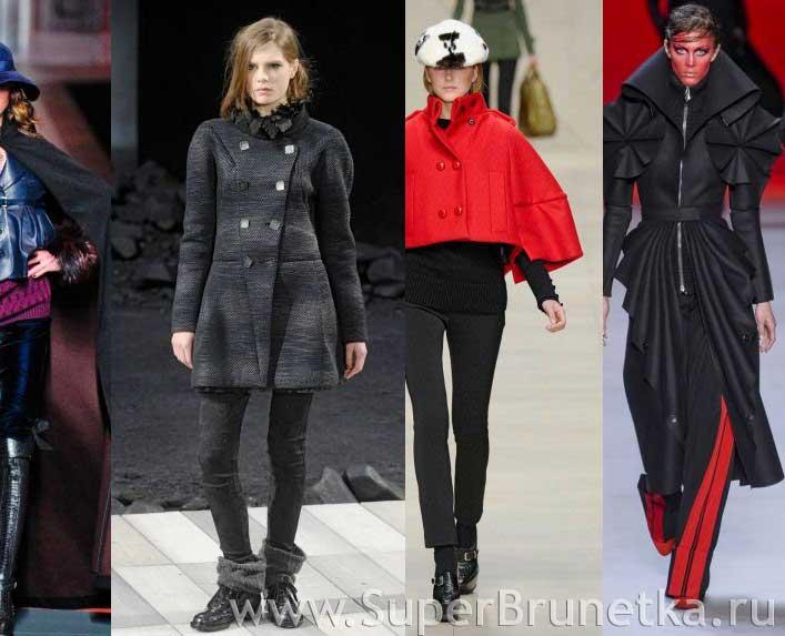 мода зима осень 2011 пальто