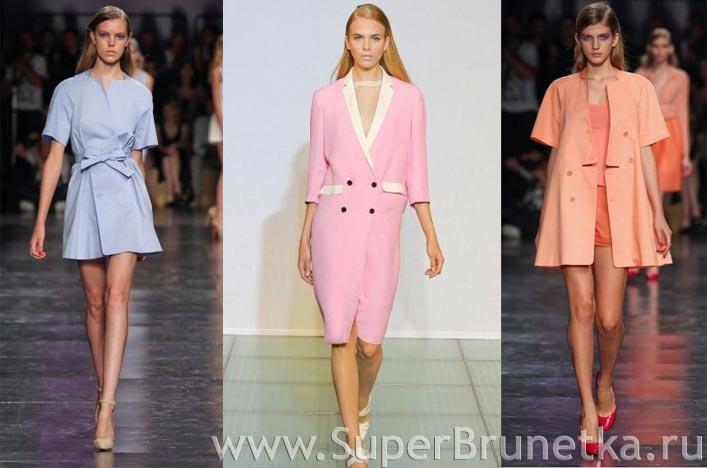Модные пальто весна-лето 2012