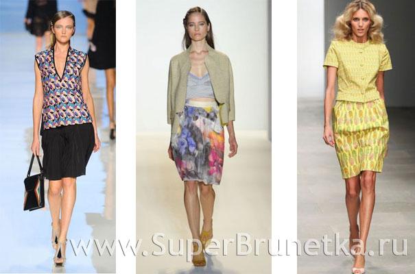 модные юбки лето 2012