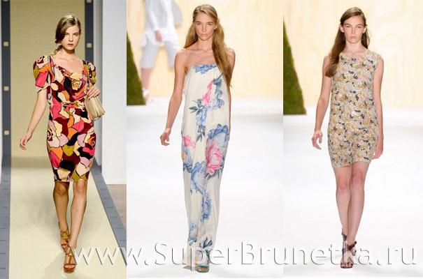 платья весна лето 2012