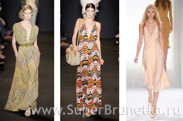 мода платья весна лето 2012